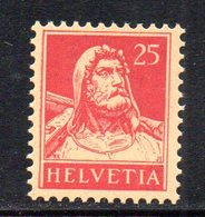 402/1500 - SVIZZERA 1916 ,  Unificato N. 163A  ***  MNH  Carminio - Nuovi