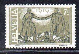 408/1500 - SVIZZERA 1919 ,  Unificato N. 170  ***  MNH  Pace - Nuovi
