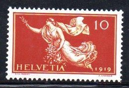 409/1500 - SVIZZERA 1919 ,  Unificato N. 171  ***  MNH  Pace - Nuovi