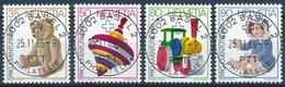 298-301 / 1331-1334 Pro Juventute 1986 Mit ETOS-Vollstempel BASEL 2 - PHILATELIE - Pro Juventute