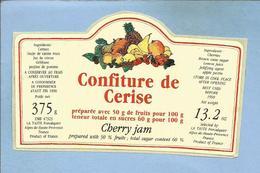 Folcalquier (04) Entreprise La Taste Z.I. Les Chalus Confiture De Cerise 2 Scans 1990 - Stickers