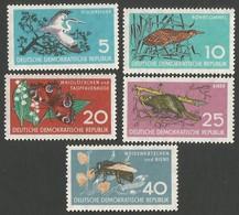 East Germany/DDR.  1959 Nature Protection. SG E422-426. MNH - [6] Repubblica Democratica