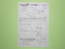 Facture Document - Fromagerie PICON à SAINT-FELIX (Haute-Savoie) Pour AZILLE (Aude) Le 16/05/1956 - Alimentaire