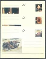 BELGIUM - 1999  - VAN DYCK - COB BK 71 - BK 73 -  Lot 17839 - Stamped Stationery