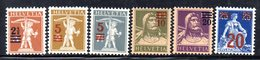 417/1500 - SVIZZERA 1921 ,  Unificato N. 179/184  ***  MNH - Nuovi