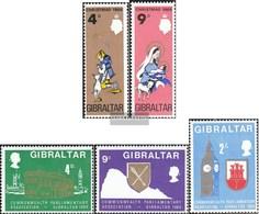 Gibraltar 219-220,221-223 (completa Edizione) MNH 1968 Natale, CPA - Gibilterra