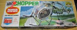 Rare Hélicoptère Army Chopper De Sharna Pour Poupée De 30 à 48 Cm Jamais Monté Dans Sa Boite D'origine - Toy Memorabilia