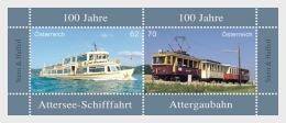 2013 Austria / Östereich -100 Jahre Attergaubahn /100 Jahre Attersee-Schifffahrt - MS 2v - Paper MNH** - 1945-.... 2. Republik