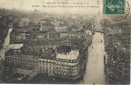 Crue De La Seine - Inondations - Paris - Rues De Lyon Et De Bercy Prises De La Tour De L'horloge - Alluvioni Del 1910