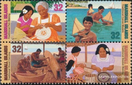 Marshall-Islands 826A-829A Block Of Four (complete Issue) Unmounted Mint / Never Hinged 1997 Traditional Craft - Marshall Islands