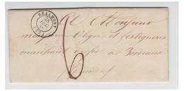 FRANCE -TARN-LETTRE DE REALMONT POUR BORDEAUX -- T à D TYPT 15 De 1846 -- TAXE A 6 DECIMES-- - Postmark Collection (Covers)
