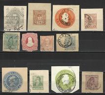 12 Ganzsachenausschnitte / Cuts From Postal Stationery - Postal Stationery