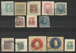 13 Ganzsachenausschnitte / Cuts From Postal Stationery - Postal Stationery