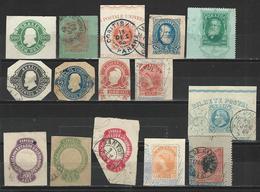 15 Ganzsachenausschnitte / Cuts From Postal Stationery - Postal Stationery