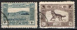 TURCHIA - 1922 - PORTO DI SMIRNE - LEGGENDARIO LUPO GRIGIO - USATI - 1921-... République