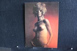 40 - P-up / Carte - Photo /  Pin-Up  - JANINE -  Modèle  Nue,  Daily Girl Press  /  Circulé   . - Pin-Ups