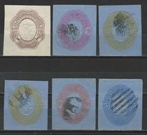6 Ganzsachenausschnitte / Cuts From Postal Stationery - El Salvador