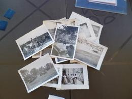 Lot 16 Petites Photos Taureaux Camargue Courses Gardian Famille Valette Razeteur Saint Laurent D'Aigouse - Célébrités