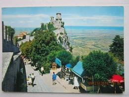CP SAINT MARIN  ( San Marino ) écrite Et  Timbrée Avec 4 Timbres  EN 1962 - Saint-Marin