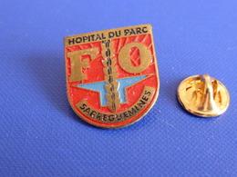 Pin's Hôpital Du Parc - Centre Hospitalier Sarreguemines - FO Force Ouvrière Syndicat (MA53) - Medical