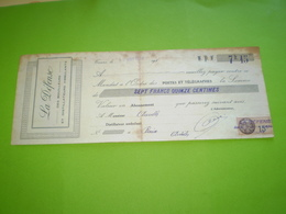 Alambic: La Défense Des Bouilleurs Et Distillateurs Ambulants. 1926. Timbre Fiscal 15c. - Bills Of Exchange
