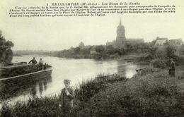 CPA DE BRISSARTHE  (MAINE ET LOIRE)  LES RIVES DE LA SARTHE - France
