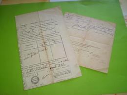 Alambic: Laissez Passer D'un Alambic Ambulant De Baix à Le Pouzin,Ardèche & Licence De Bouilleur Ambulant, Baix .1917 - Bills Of Exchange