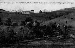 CPA   26   VUE DU CROMLECH DE SAINT-BARTHELEMY-DE-VALS---STATION MEGALHITIQUE PREHISTORIQUE - France