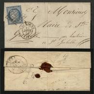 """France N° 4 Obl. Grille + Cursive """"Cintegabelle"""" Au Verso - TTB Qualité - 1849-1850 Ceres"""