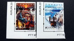 Türkei 3954/5 **/mnh, EUROPA/CEPT 2012, Besuche - Nuevos