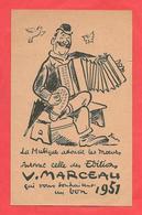 Pub ILL. Simons  1951 Pour Les Editions  V.Marceau .Accordéoniste,parapluie '(légère Coupure,état) - Other Illustrators