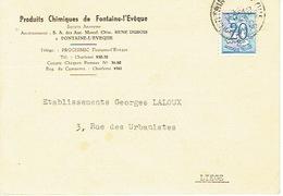 CP Publicitaire FONTAINE L'EVEQUE 1951 - PRODUITS CHIMIQUES DE FONTAINE L'EVEQUE - Fontaine-l'Evêque
