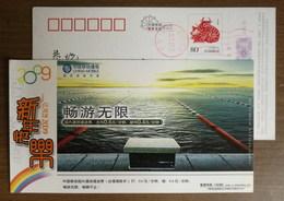 Swimming Pool Take-off Platform,CN09 China Mobile Jiangsu Branch Domestic Roaming Charges Advertising Pre-stamped Card - Swimming
