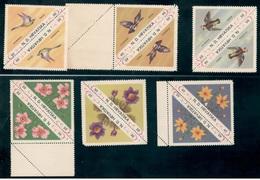 CROATIA1941:BIRDS&FLOWERS Triangle Set Mnh** - Croatia