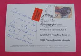 2015 KOSOVO, EXPRES Postcard Send From PRIZREN To PRISTINA, RARE. Stamp: VISUAL ART. Postcard PROPAGANDA ISLAM! - Kosovo