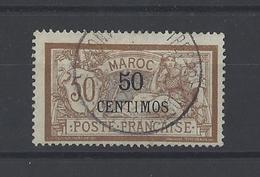 MAROC. YT  15   Obl  Valeur En Monnaie Espagnole En Surcharge  1902 - Morocco (1891-1956)