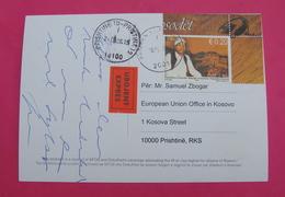 2015 KOSOVO, EXPRES Postcard Send From PRIZREN To PRISTINA, RARE. Stamp: FOLKLOR RAPSODES. Postcard PROPAGANDA ISLAM! - Kosovo