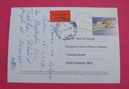 2015 KOSOVO, EXPRES Postcard Send From PRIZREN To PRISTINA, RARE. Stamp: PRIZREN HAMAM. Postcard PROPAGANDA ISLAM! - Kosovo