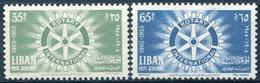 LIBAN 1955  Y&T PA 112/113 Xx ; Mi#  527/528 MNH - Lebanon