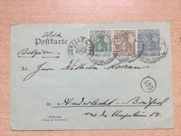 FL2851 Deutsches Reich Ganzsache Stationery Entier Postal P 63X Von Neumühl Nach Belgien - Germany