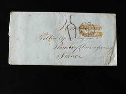 LETTRE DE BUENOS AIRES  POUR PAIMBOEUF  -  1855  - - Postmark Collection (Covers)