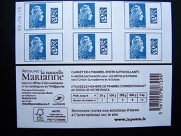 2018 NOUVELLE MARIANNE L'ENGAGEE D'YSEULT YZ CARNET DATE DU 05.06.18 EUROPE DATAMATRIX BLEU - Booklets