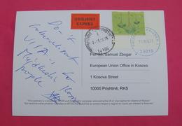 2015 KOSOVO, EXPRES Postcard Send From PRIZREN To PRISTINA, RARE. Stamp: EARTH's DAY. Postcard PROPAGANDA ISLAM! - Kosovo