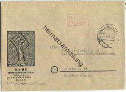 Brief Aus (10) Aschersleben Vom 14.09.1945 Mit 'Gebühr Bezahlt.' Stempel B5e In Rot - Soviet Zone