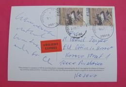 2015 KOSOVO, EXPRES Postcard Send From PRIZREN To PRISTINA, RARE. Stamp: ARCHEOLOGY. Postcard PROPAGANDA ISLAM! - Kosovo