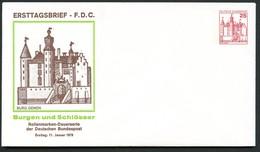 Bund PU107 D1/001 BURG GEMEN FDC 1979 - Castles