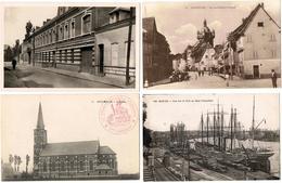 Lot 10 CPA & CPSM France  / Hoymille, Somain, Carency, Nantes, Le Quesnoy ... / A Voir !!! - Cartes Postales