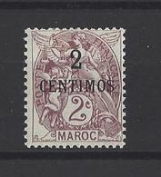 MAROC. YT  21  Neuf *  Valeur En Monnaie Espagnole En Surcharge  1907 - Morocco (1891-1956)