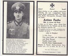 Bliesen Saar - Sterbebild Uffz Infanterie - Anton Fuchs - Gefallen Mit 27 Jahren A. Der Krim   -  AK - 10654 - Documenti
