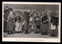 1911  --  BELGIQUE  LIEGE  LES DERNIERES BOTTERESSES   3P846 - Old Paper